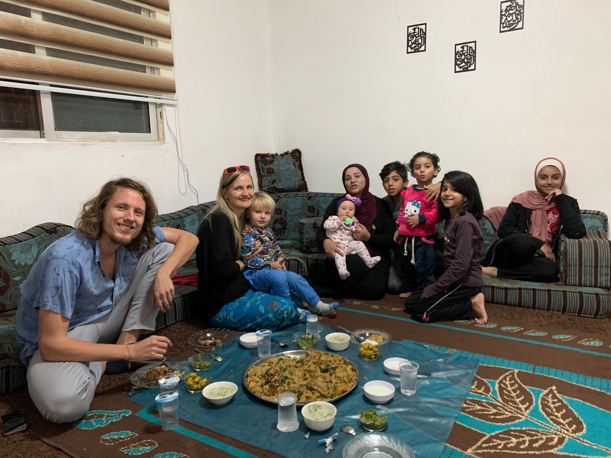 Jordánsko, návštěva lokální rodiny